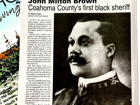 The First Black Sheriff of Coahoma County: John Milton Brown