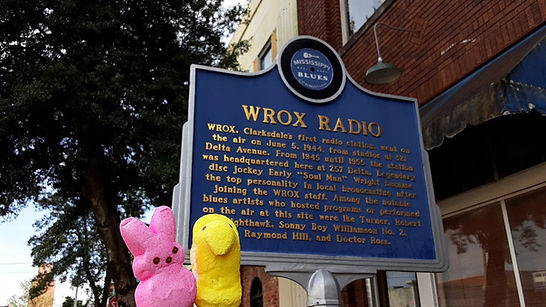 WROX Radio | Historic Blues Trail Marker | Peep Tour of Clarksdale, Mississippi (c Shared Experiences USA)
