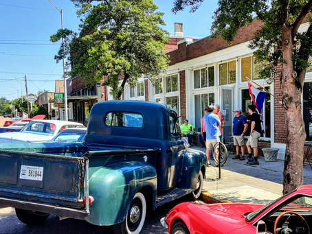 Cars & Coffee in downtown Clarksdale