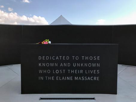 The Elaine Massacre Memorial dedication: reflections