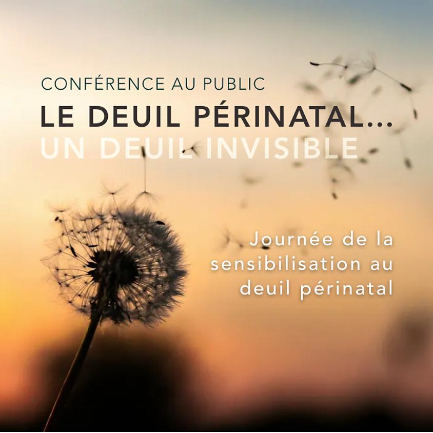 CONFÉRENCE AU PUBLIC: LE DEUIL PÉRINATAL, UN DEUIL INVISIBLE