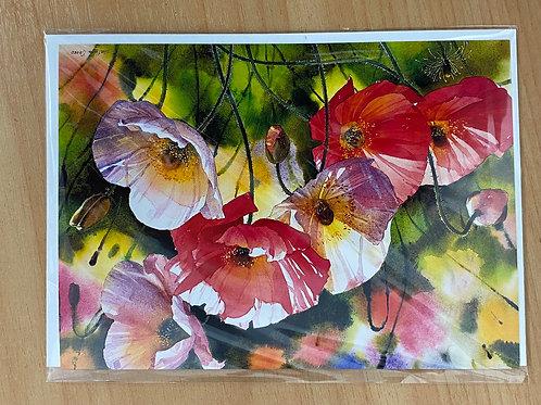 Greeting card - Poppies/S.Orinko