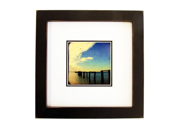 "8x8 1"" Gallery Picture Frame - Black - White Matte"