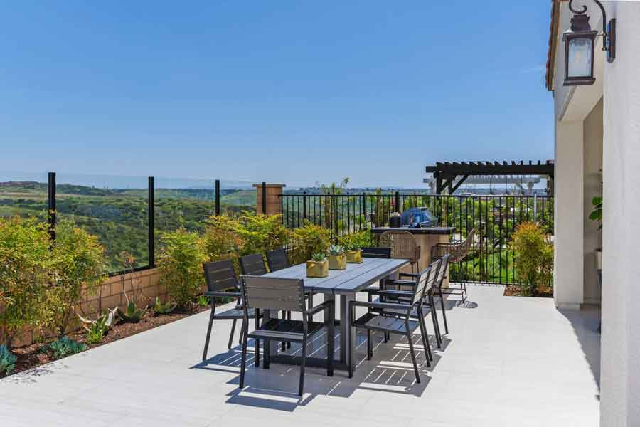 Bella Sitia Residence 3 Backyard Table Zoom Out