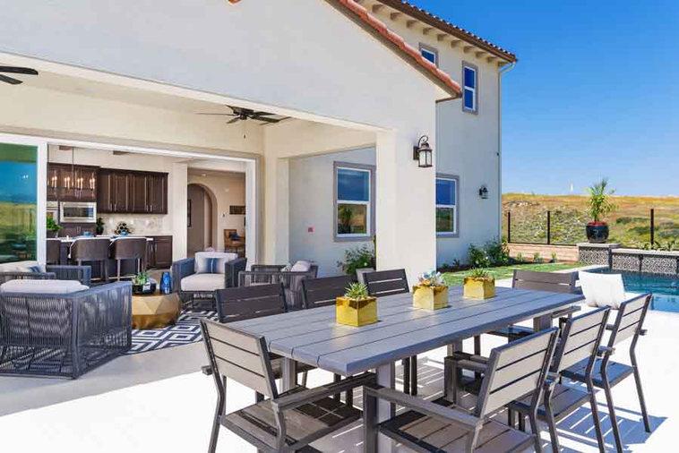 Bella Sitia Residence 3 Backyard Table Opposite View
