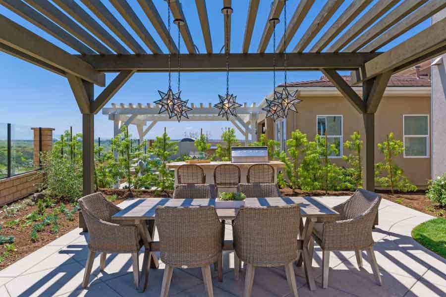 Bella Sitia Residence 2 Backyard Table