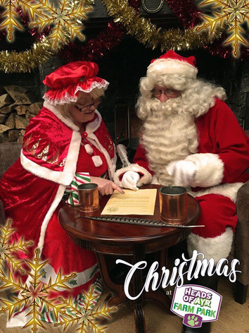 Santa and his lovely Mrs Claus replying to their Christmas letters.