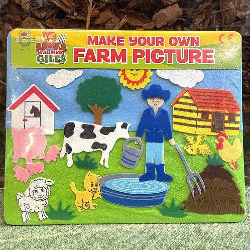 Make Your Own Felt Farm Picture