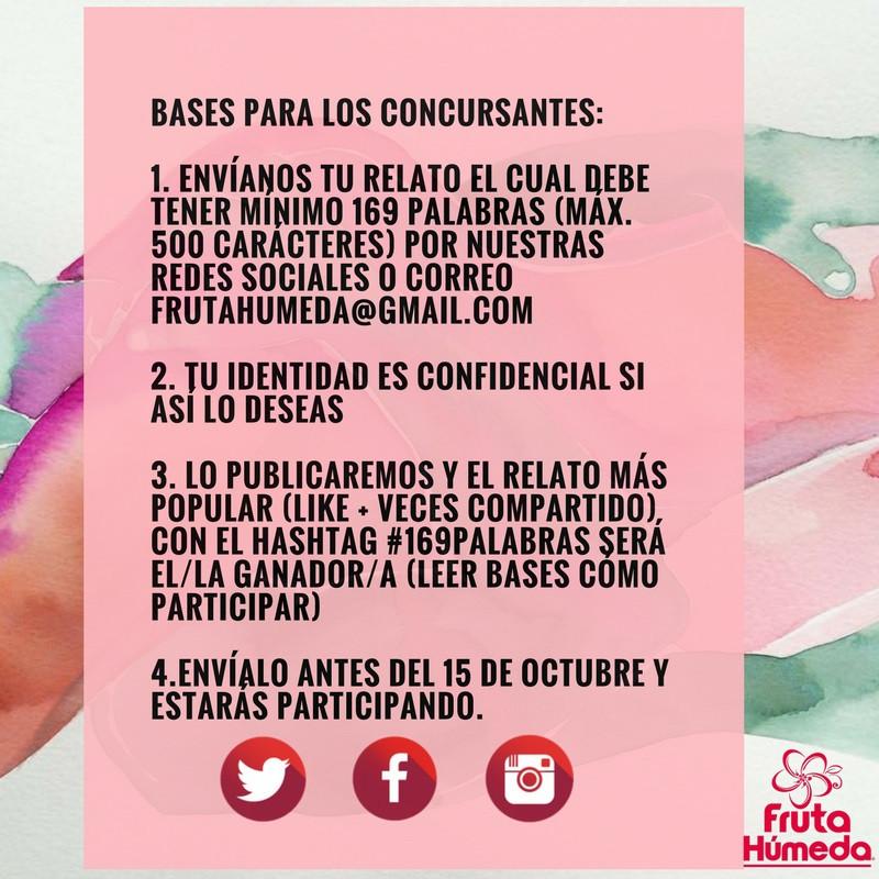 bases concurso relatos eroticos #169palabras  2017