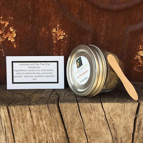 Lavender Tea Tree CLAY Deodorant Jar