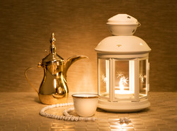 Lantern with arabian coffee