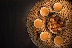Dates with arabian coffee