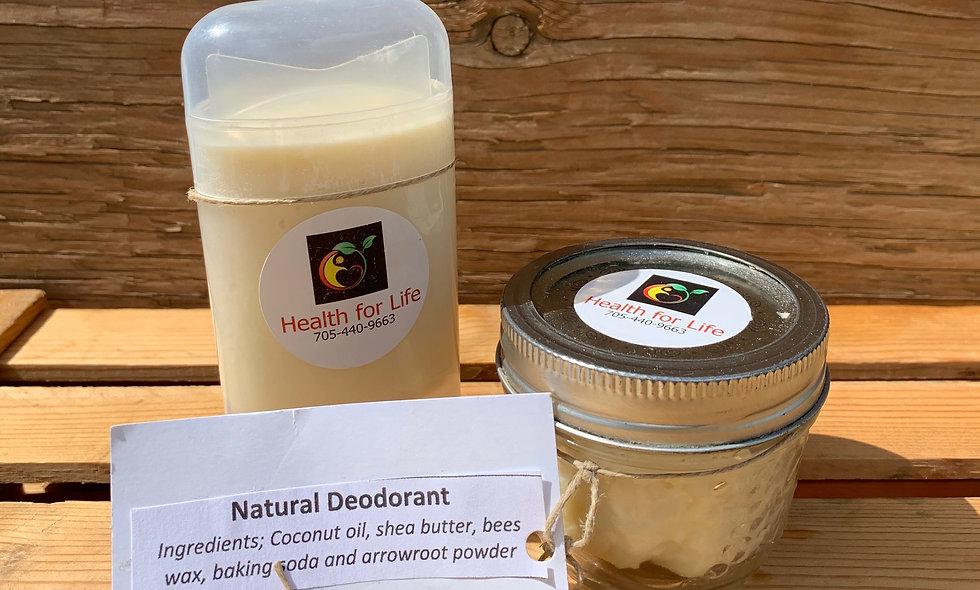 Natural Deodorant Jar *No added Scent*