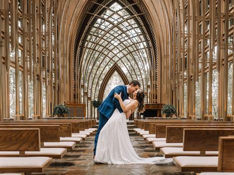 Mildred B. Cooper Memorial Chapel Wedding in Bella Vista, Arkansas