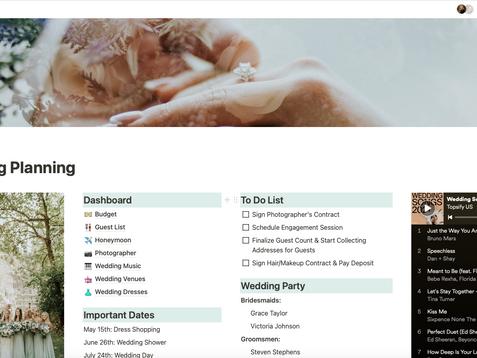 FREE Notion Wedding Planning Template