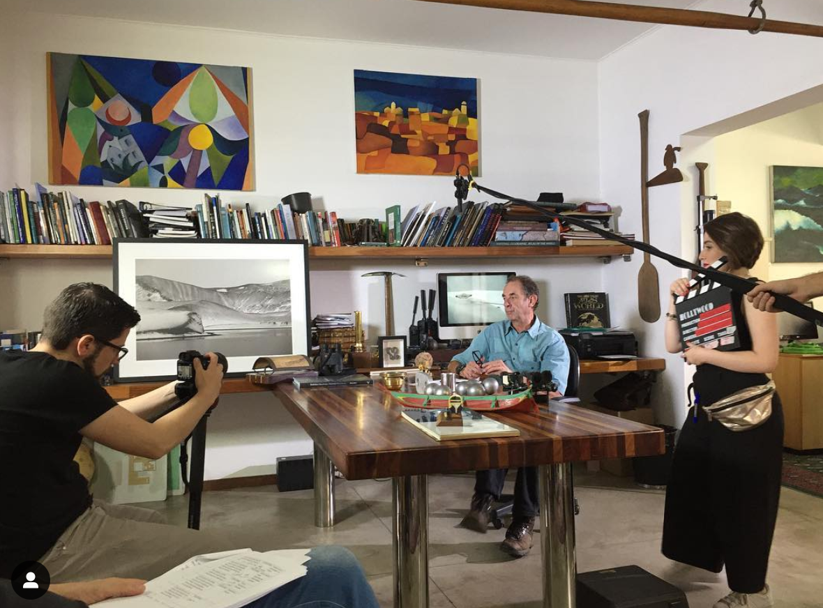 Filmagem com Amyr Klink
