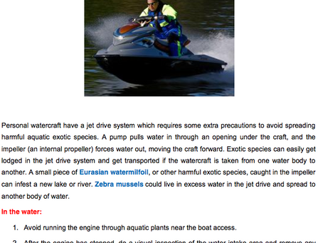 Personal Watercraft... You Can Help!