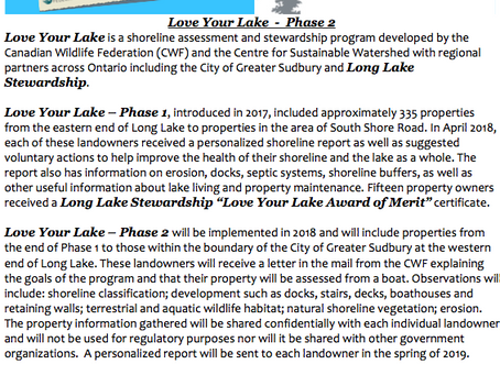 Love Your Lake - Phase 2