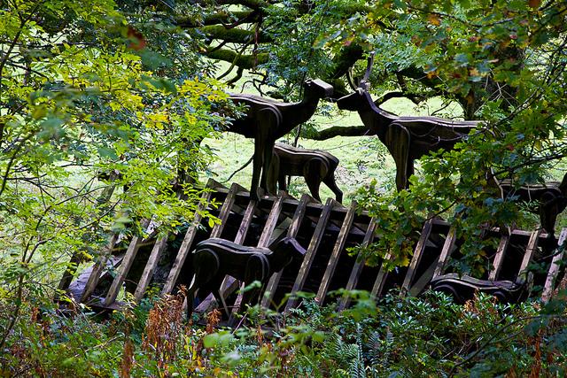 Wooden deer,Grizedale sculptor trail