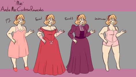 Mae: Alternate Costumes