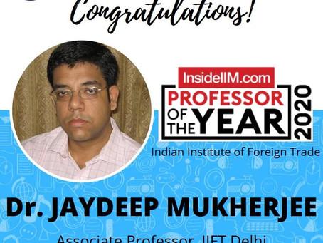 InsideIIM Professor of the Year at IIFT Delhi