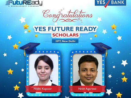 Yes Future Ready Scholarship by YES BANK to IIFT Students