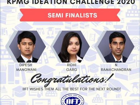 IIFT proceeds in KPMG Ideation Challenge 2019
