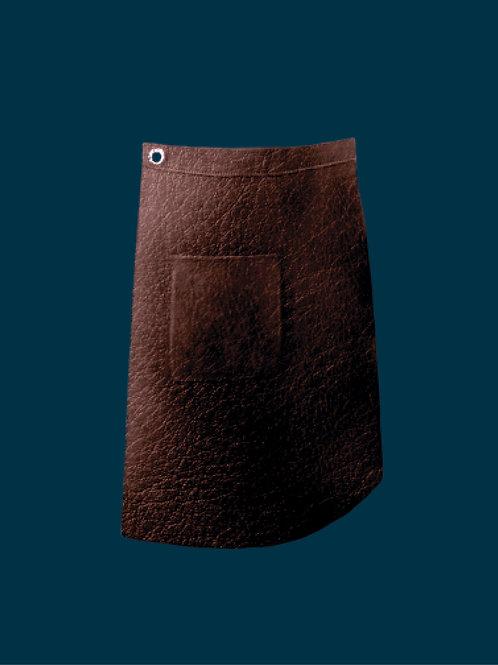 HALF LENGTH APRON dark brown full grain leather
