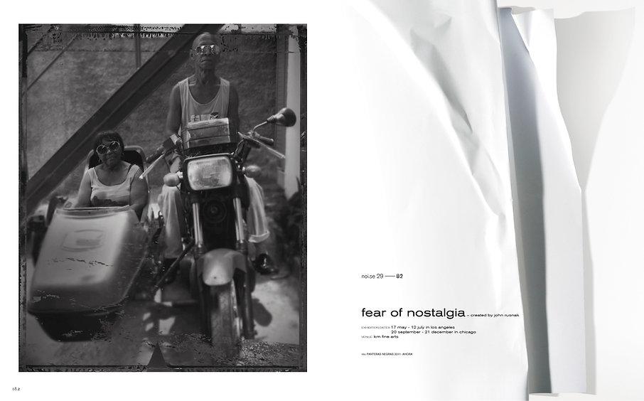 noise 29 magazine exhibition ´fear of nostalgia john rusnak