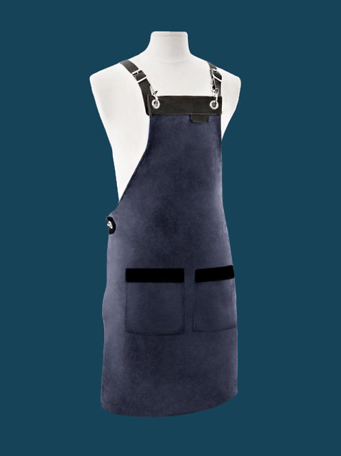 FULL LENGTH APRON navy suede