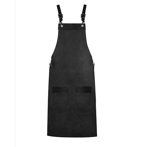 FULL LENGTH APRON black suede