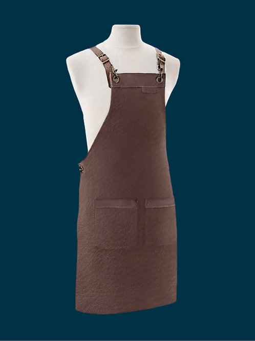 APRON FULL LENGTH brown leather
