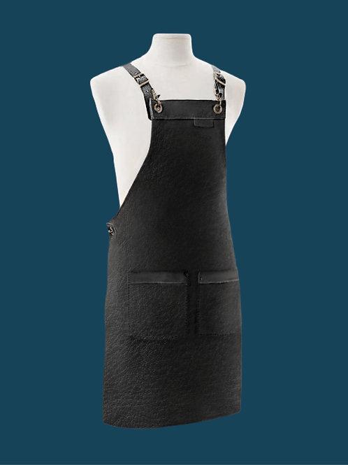 APRON FULL LENGTH black leather
