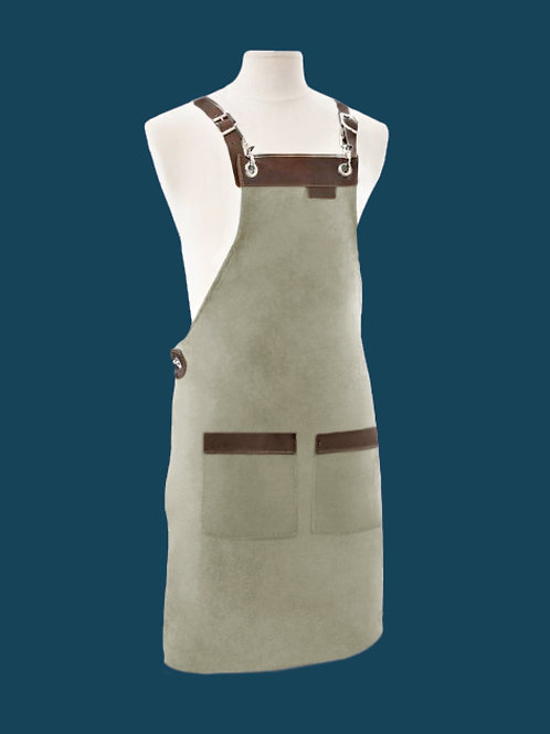 FULL LENGTH APRON green suede