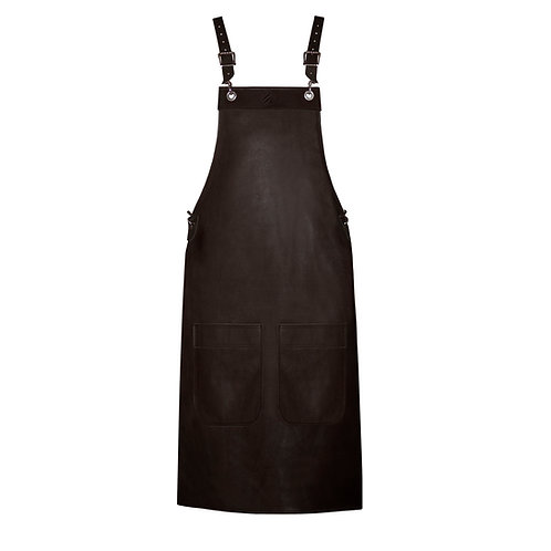 FULL LENGTH APRON brown leather