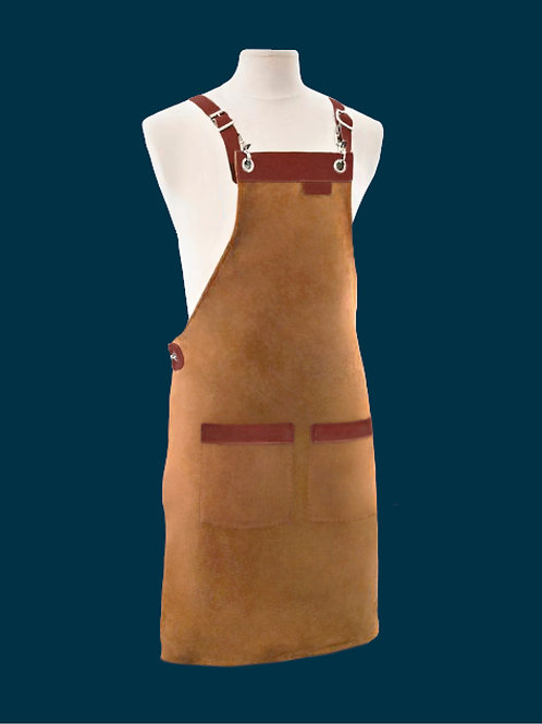 FULL LENGTH APRON tan suede