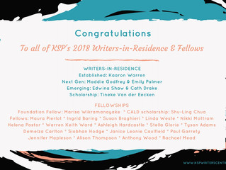 Meet KSP's 2018 Writers in Residence