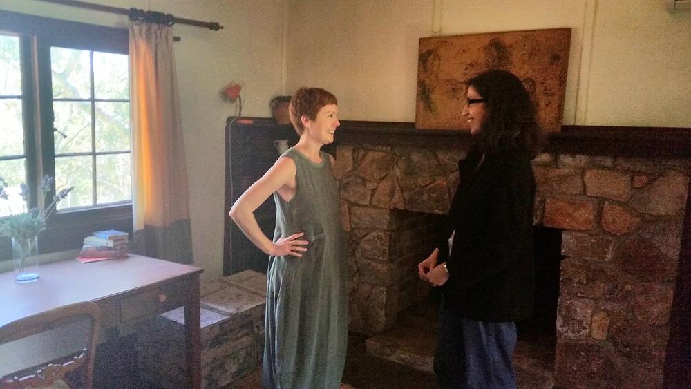 Tanya Vavilova and Juanita Pirozzi at Katharine's cabin