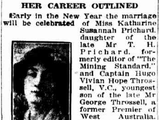Your KS #38: Katharine and Hugo's engagement, 100 years ago this month