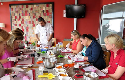 A cooking class in Lima at a studio in Miraflores