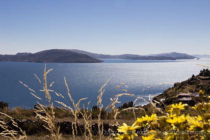 View of Lake Titicaca from Taquile Island