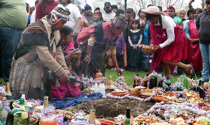 A Pachamama Ceremony in the Andes near Cusco