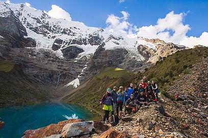 Salkantay Trekking - View after the Salkantay Pass