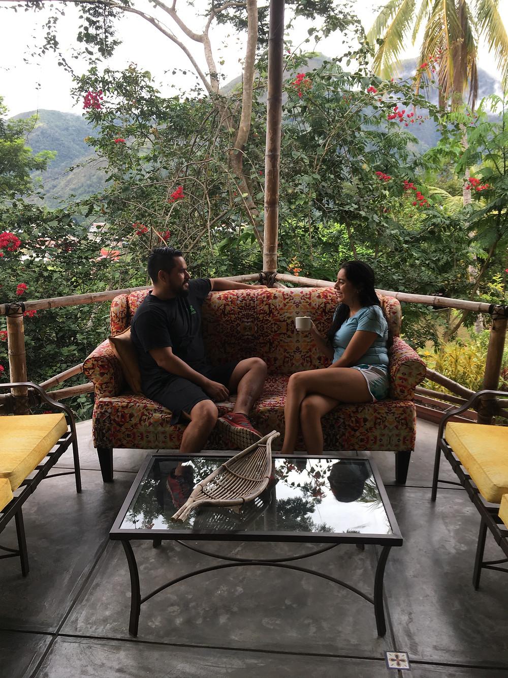 Relaxing at the Peru eco-lodge in La Merced -- El Fundo San Jose