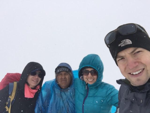 On the Rainbow Mountain with Snow