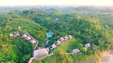 A jungle lodge in Iquitos in the Pacaya Samiria