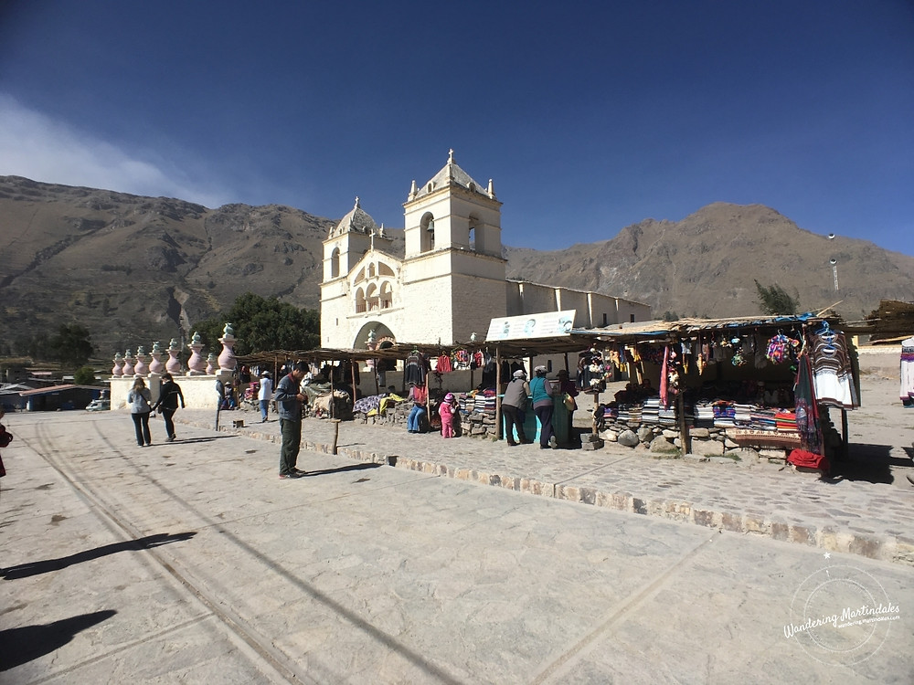 Churches in Maca, Peru & Yanque, Peru are obvious focal points of these towns