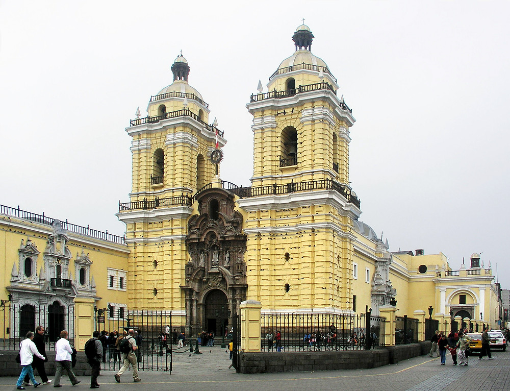 The San Francisco Church houses the famous Lima Catacombs