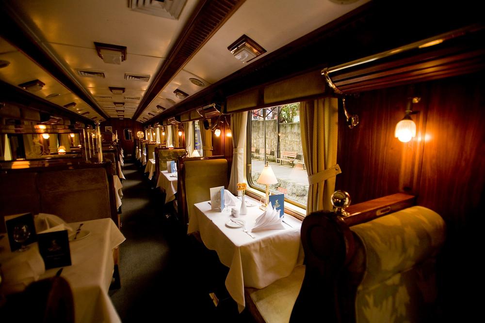 Hiram Bingham, the original Peru luxury train, leaves from Poroy