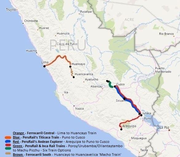 A Full Map of Train Travel in Peru